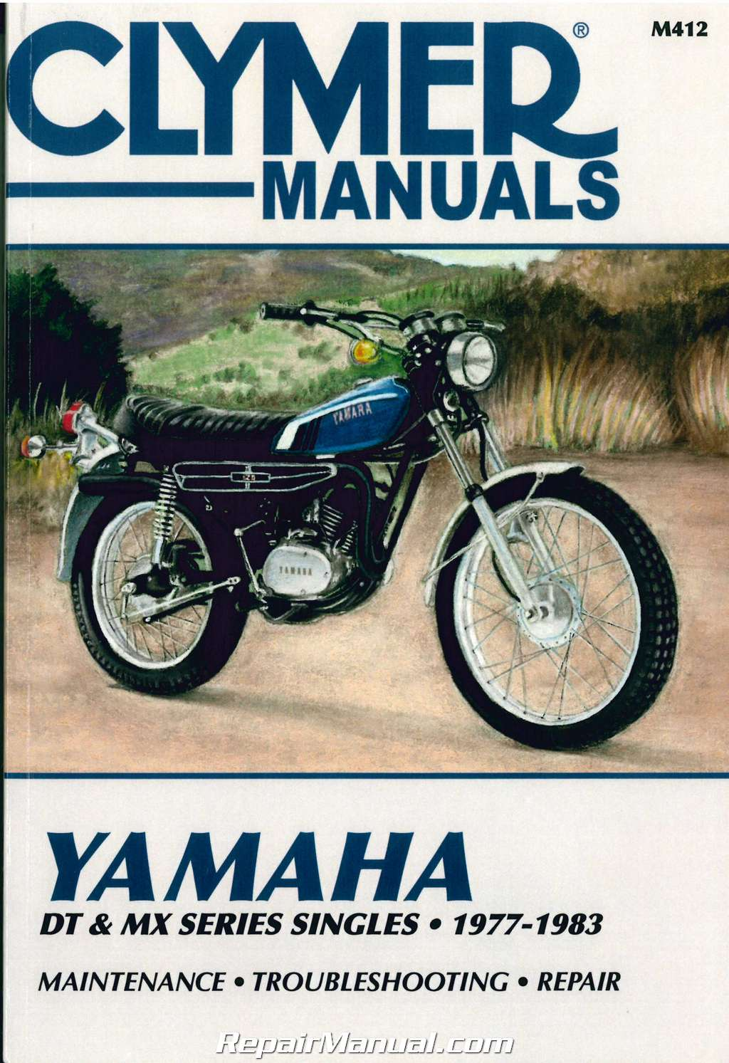 1977 – 1983 Yamaha DT 100 125 175 250 400 MX100 175 Clymer Motorcycle Repair  Manual