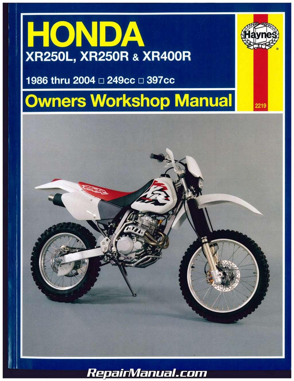 1986 honda xr250r manual pdf
