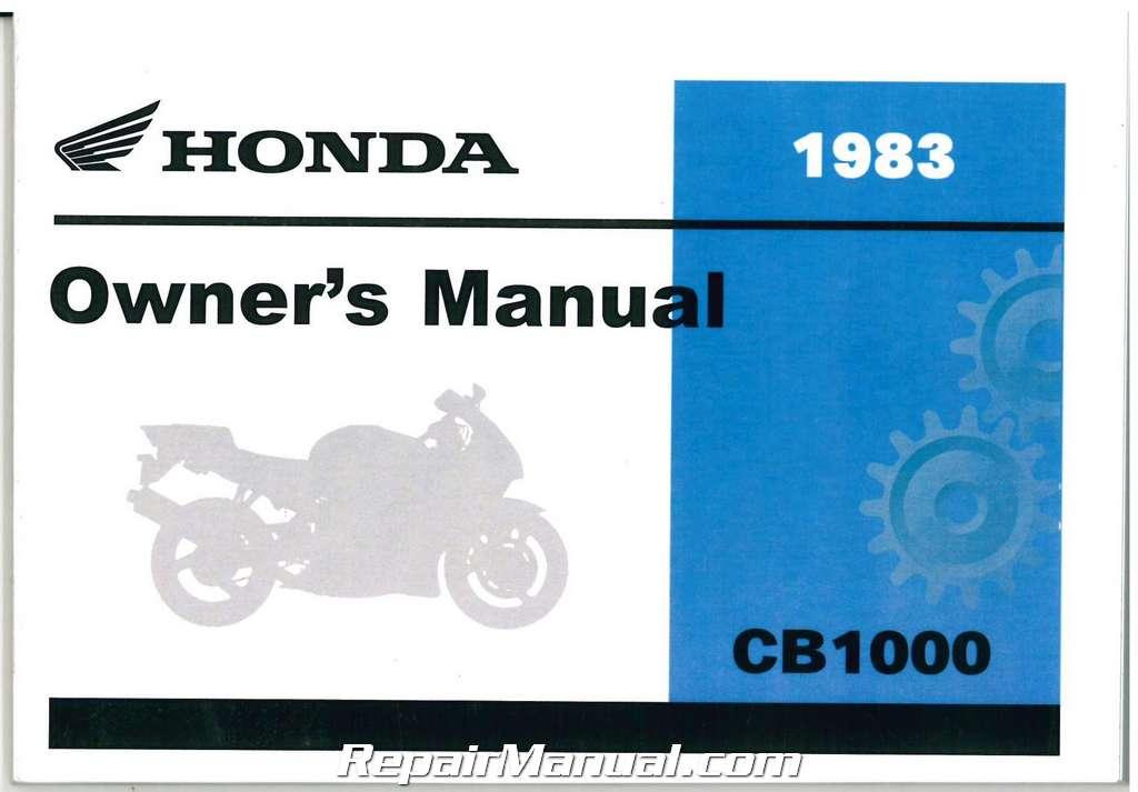 1983 Honda Cb1000 Custom Motorcycle Owner Manual