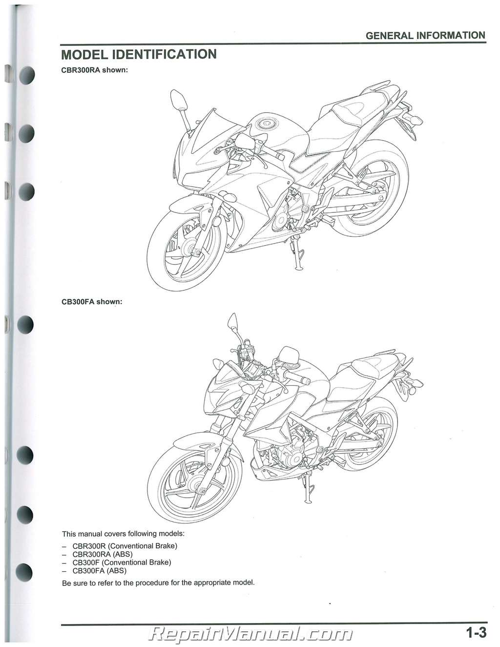 2015 2016 honda cbr300r service manual motorcycle   61k3301