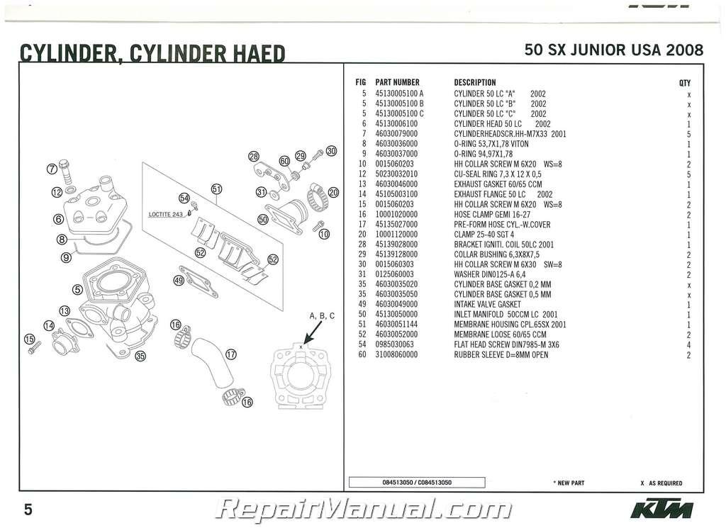 2008 ktm 50 sx junior engine spare parts manual rh repairmanual com 2012 ktm 50 sx repair manual ktm 50 workshop manual pdf