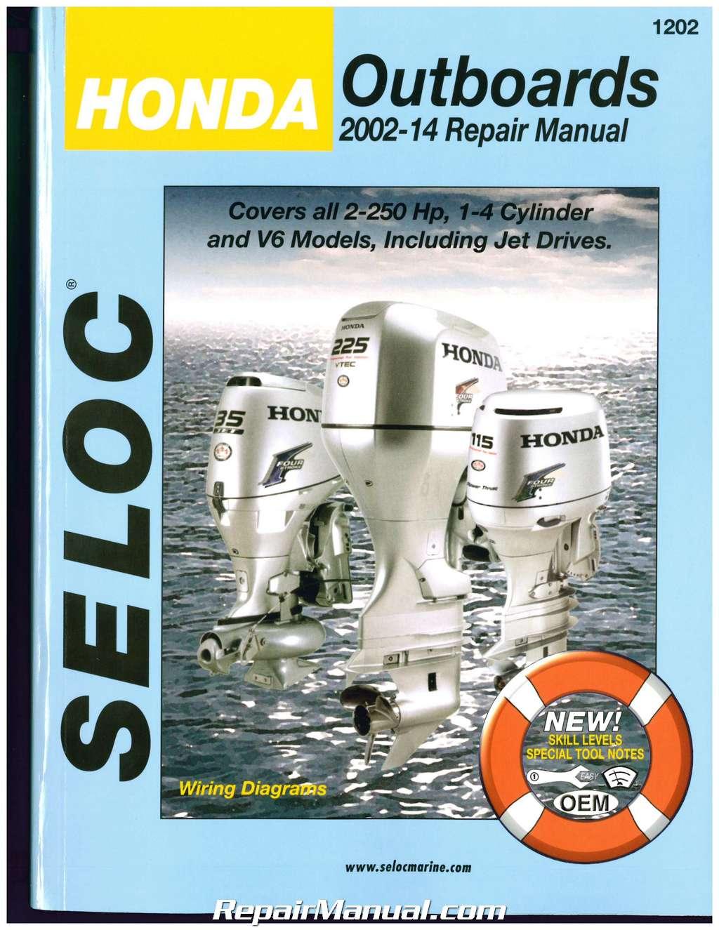 seloc   honda outboard boat engine repair manual