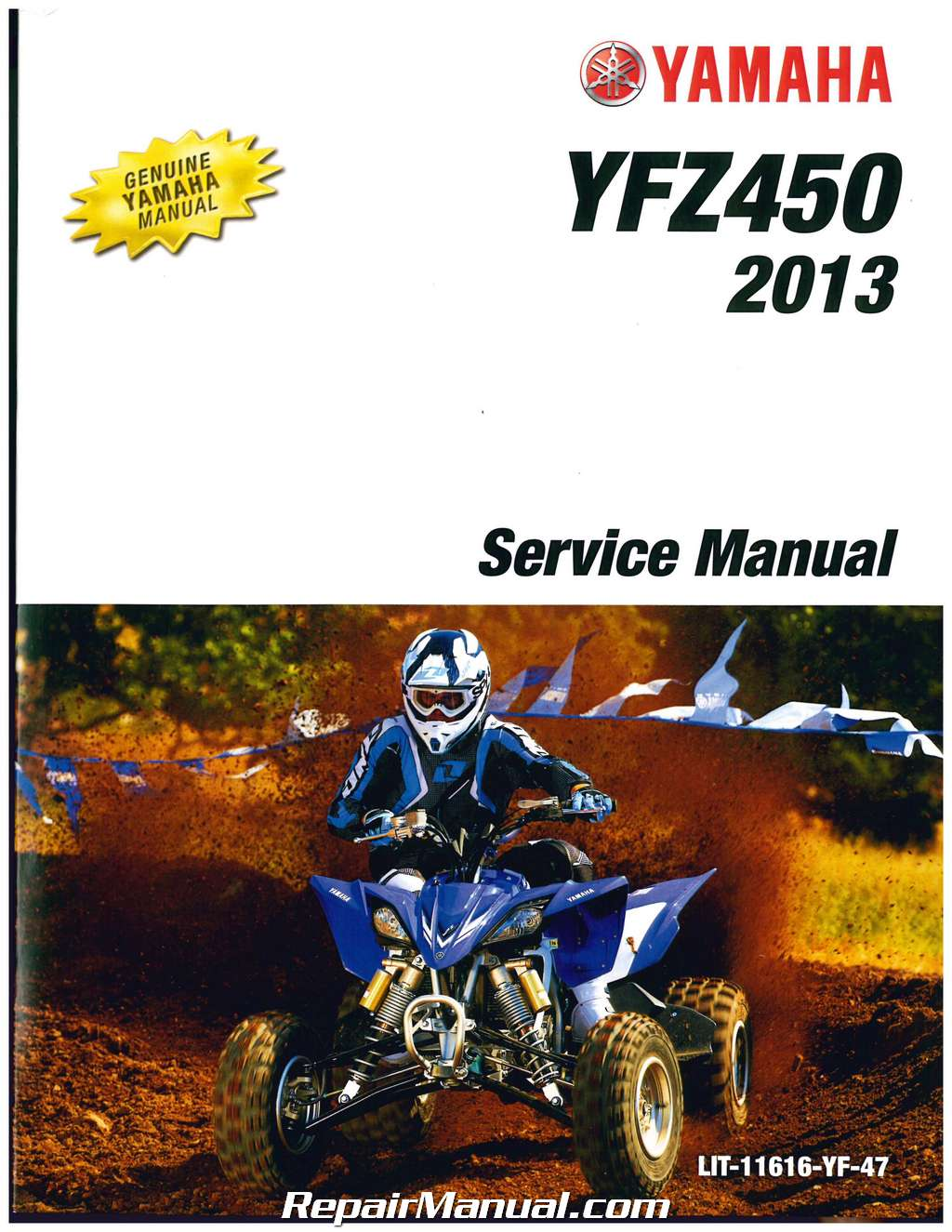 2004 2009 2012 2013 yamaha yfz450 atv service manual rh repairmanual com  2007 yamaha yfz 450 owners manual Yamaha YFZ
