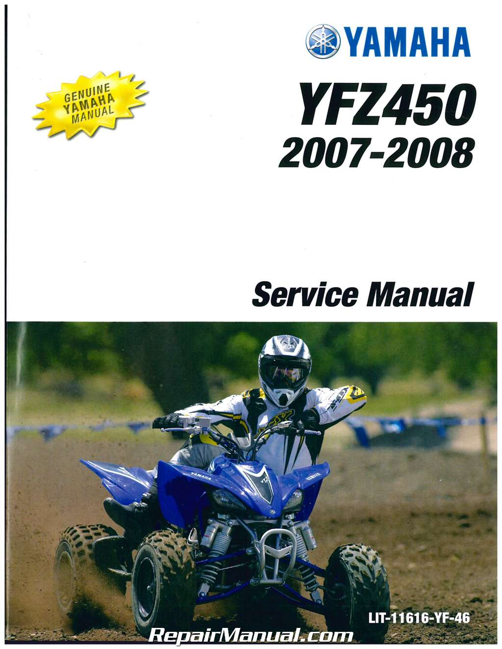 2004 2009 yamaha yfz450 atv service manual. Black Bedroom Furniture Sets. Home Design Ideas