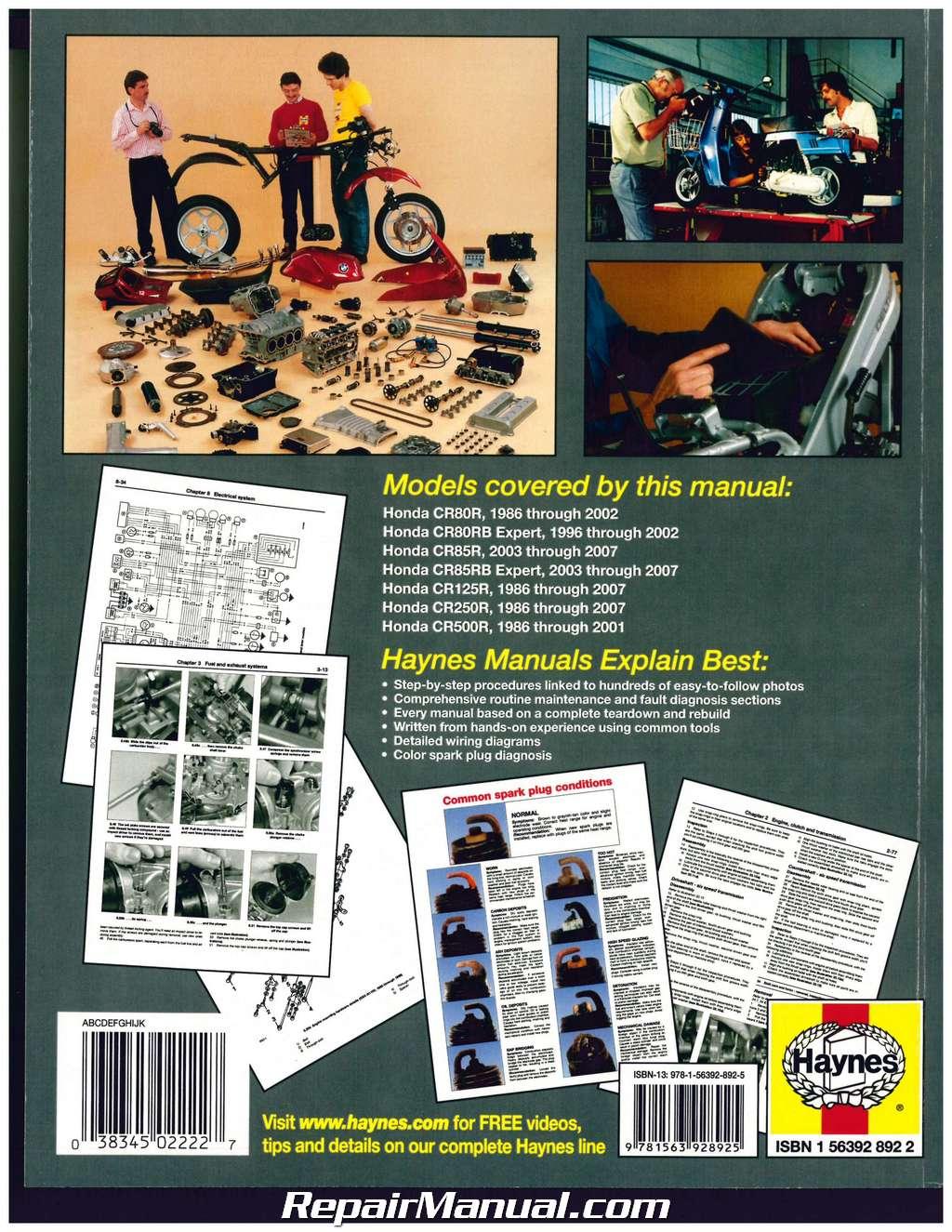 1995 honda cr125 service manual