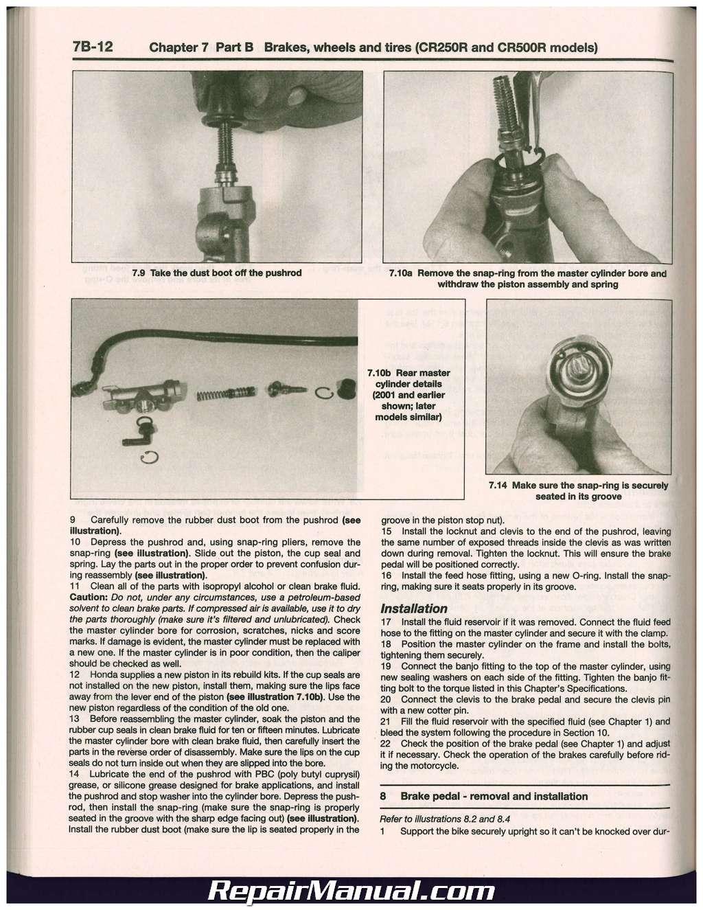Cr80 85 125 250 500 1986 2007 Haynes Honda Motorcycle Repair Manual 1985 Wiring Diagram