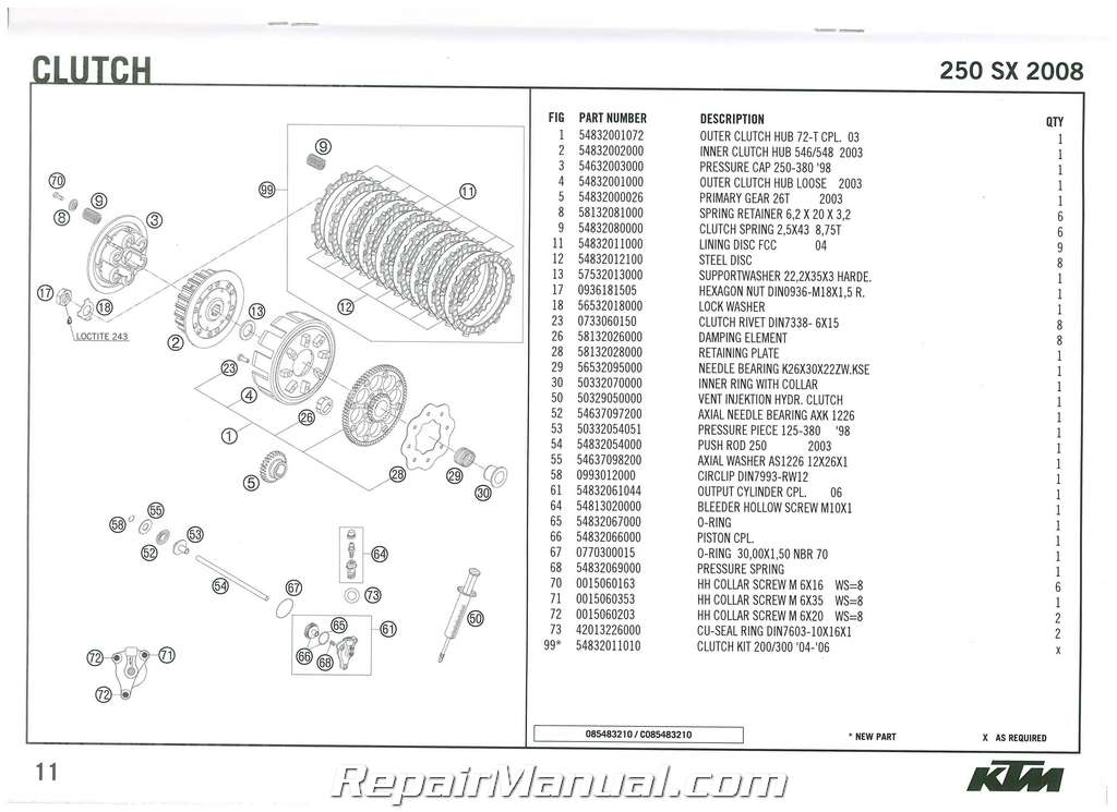 2008 ktm 250 sx engine spare parts manual. Black Bedroom Furniture Sets. Home Design Ideas