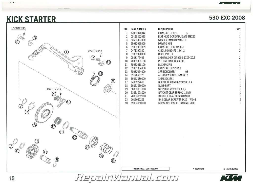2008 ktm 530 exc engine spare parts manual. Black Bedroom Furniture Sets. Home Design Ideas