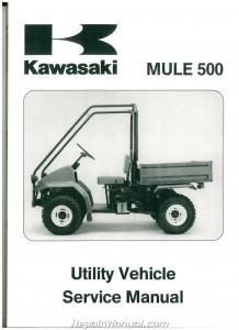 1990 – 2004 Kawasaki KAF300A Mule 500 520 550 UTV Service Manual
