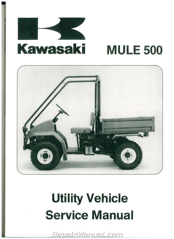 1990  U2013 2004 Kawasaki Kaf300a Mule 500 520 550 Service