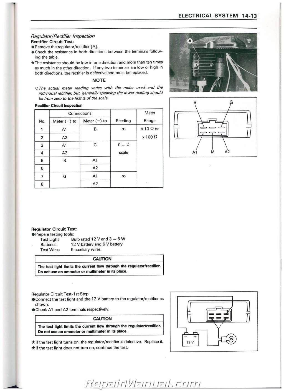 1990 - 2004 Kawasaki KAF300A Mule 500 520 550 UTV Service ...