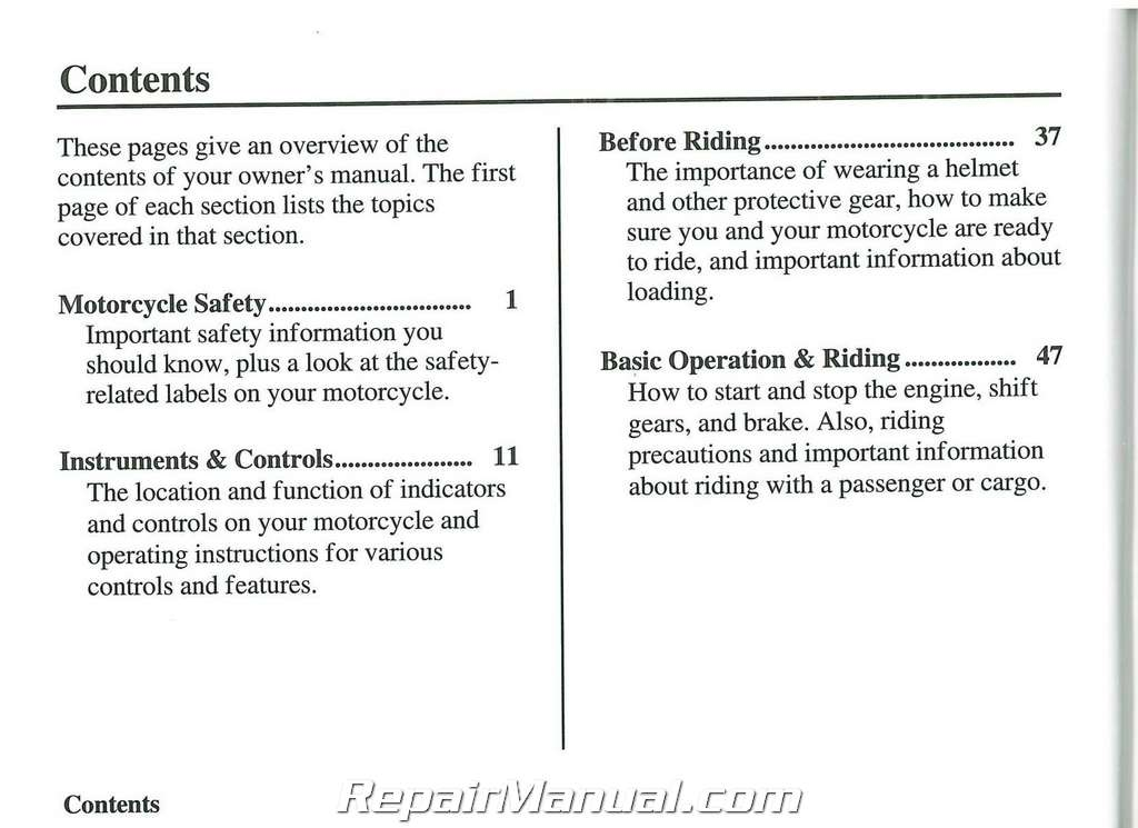2007 honda vtx1800 c fmotorcycle owners manual rh repairmanual com Reloading Manuals Sierra Reloading Manual