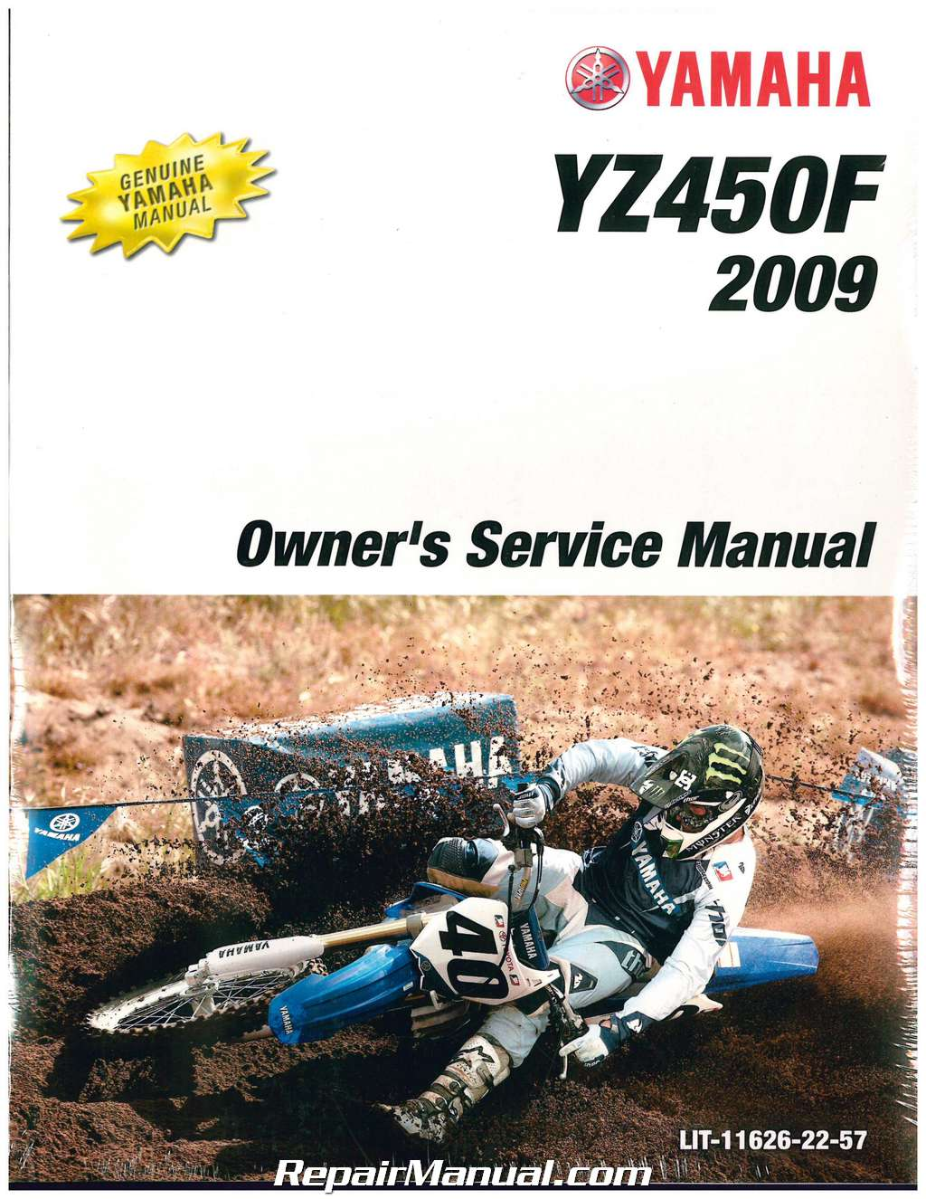 2009 yamaha yz450f motorcycle owners service manual. Black Bedroom Furniture Sets. Home Design Ideas