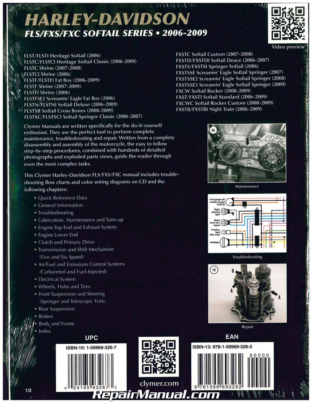 ... Array - clymer harley davidson softail fls fxs fxc motorcycle repair  manual rh repairmanual com