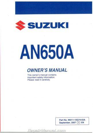 Suzuki Burgman Owners Manual