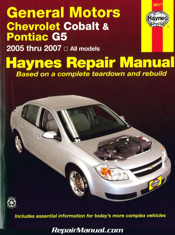 chevrolet cobalt pontiac g5 2005 2007 haynes repair manual rh repairmanual com 2005 chevy cobalt repair manual pdf 2005 Cobalt 2 Door