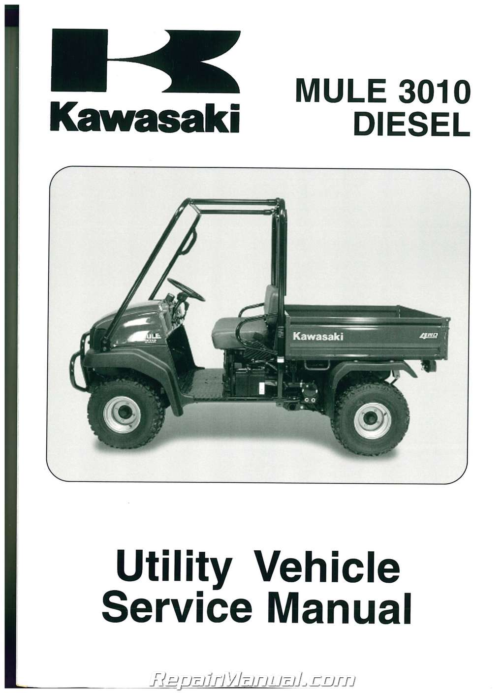 2003 2007 kawasaki kaf950 mule 3010 diesel side by side service manual rh  repairmanual com kawasaki mule 610 shop manual kawasaki mule 3010 shop  manual