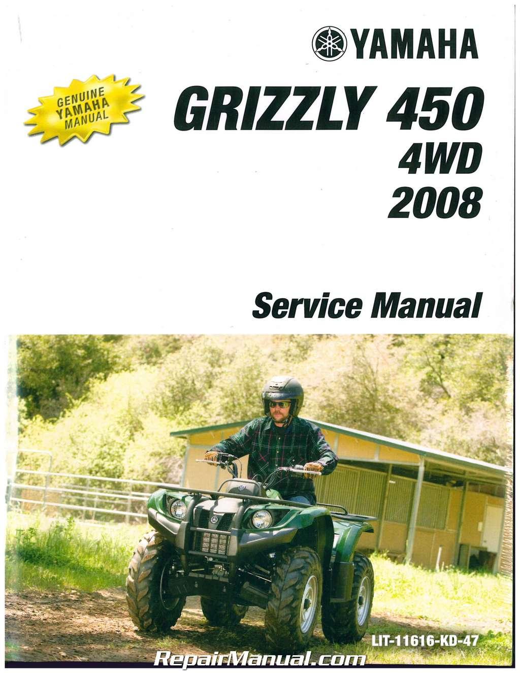 2003 2006 yamaha kodiak 450 4wd 2007 2008 grizzly 450 4wd service rh ebay com 2007 yamaha grizzly 450 service manual pdf 2007 Yamaha Bruin