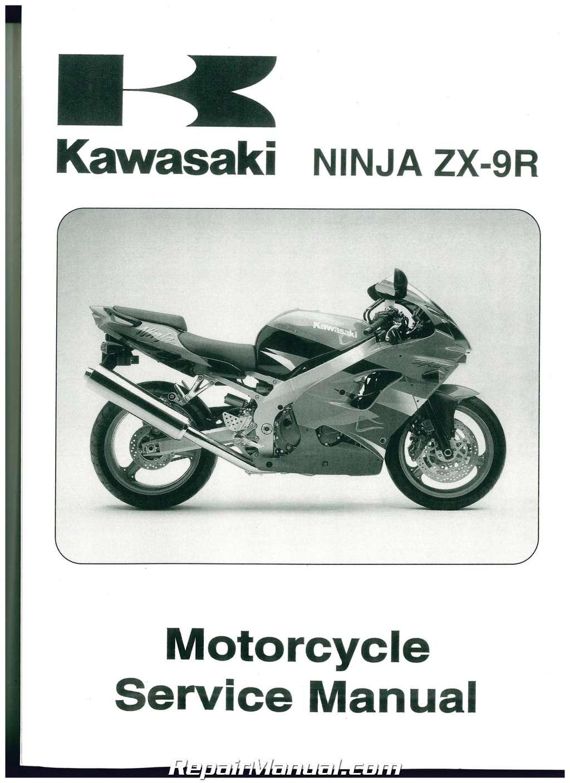 2000 2001 Kawasaki Zx900 E Ninja Zx 9r Motorcycle Service Manual