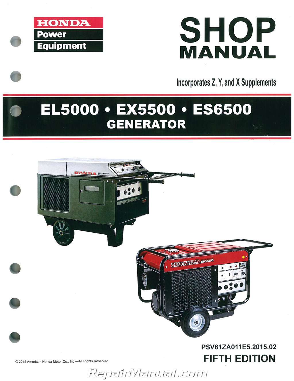 Honda el5000 es6500 ex5500 generator shop manual swarovskicordoba Gallery