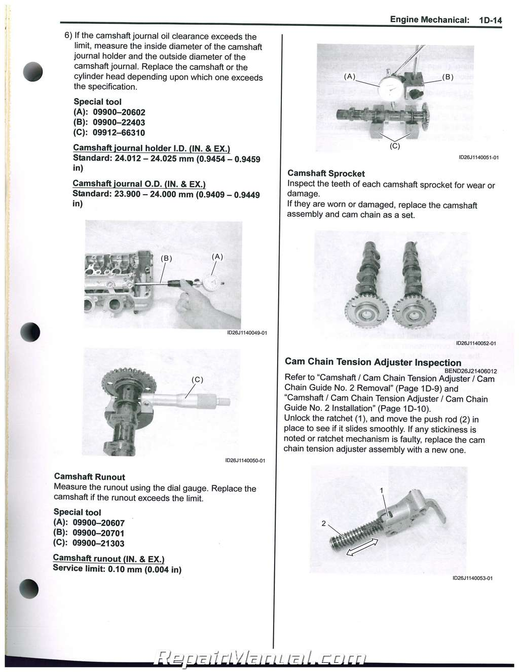 2013 – 2016 Burgman 650 AN650 Suzuki Scooter Service Manual