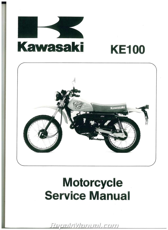 1979 2001 kawasaki ke100 two stroke motorcycle service. Black Bedroom Furniture Sets. Home Design Ideas