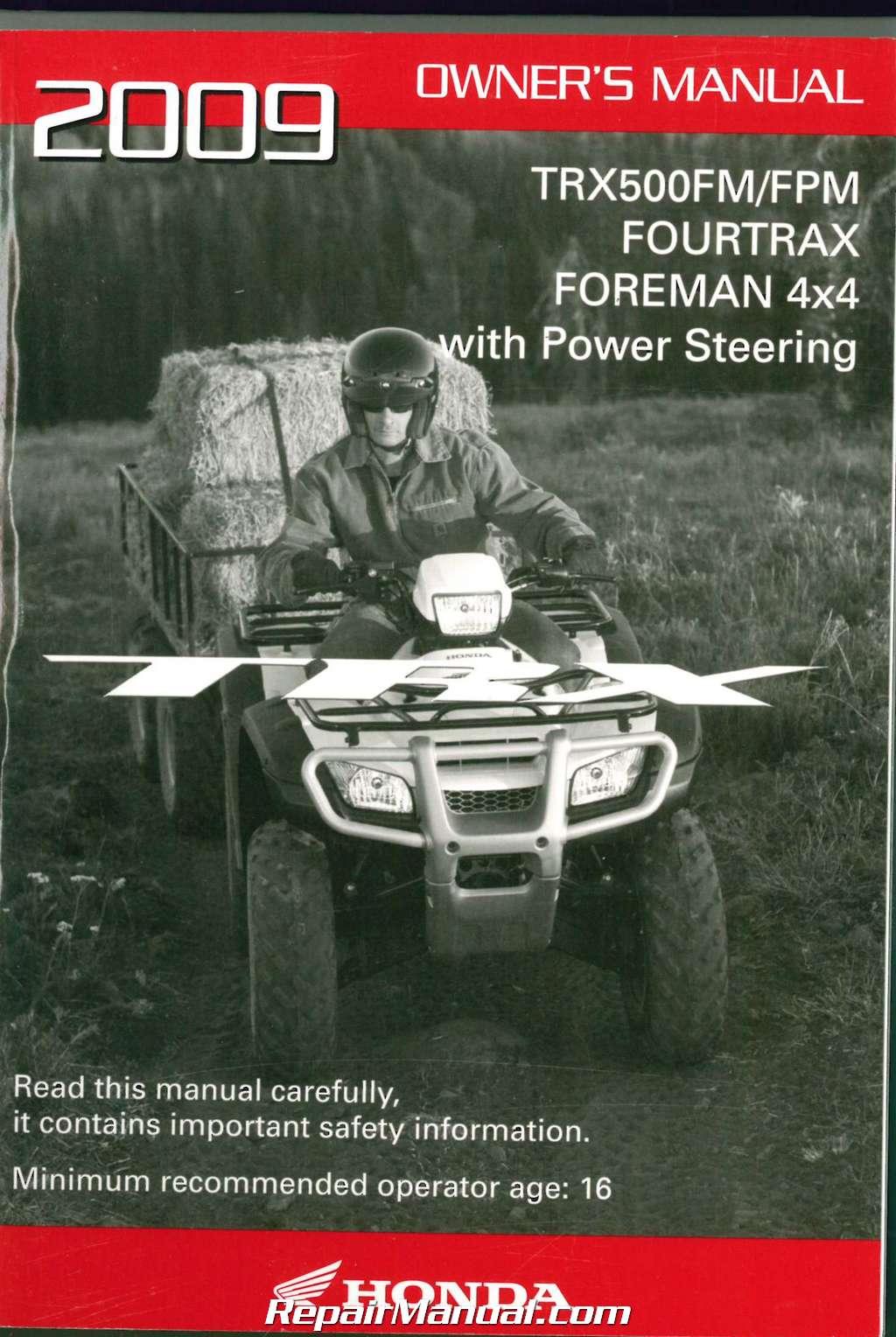 2015 honda foreman 500 owners manual