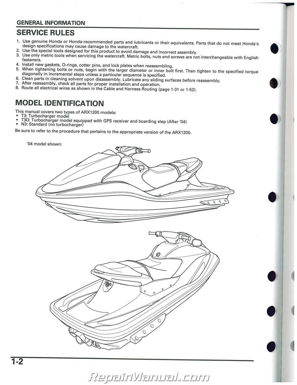 2004 2007 honda arx1200 aquatrax n3 t3 t3d owners service 2004 Honda Aquatrax R12 2004 Honda Aquatrax Problems
