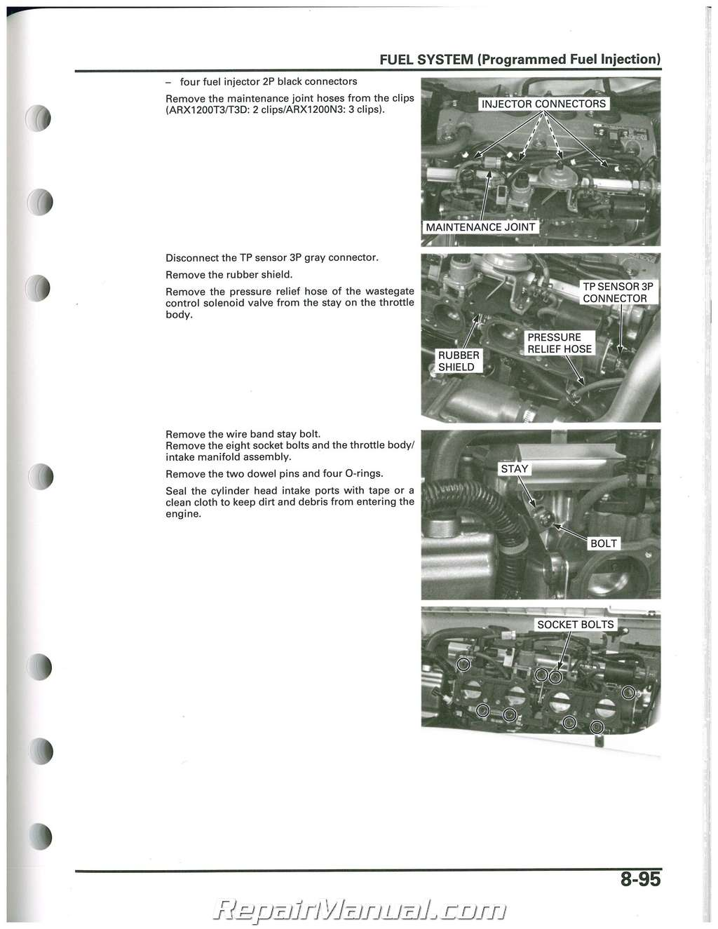 2004 2007 honda arx1200 aquatrax n3 t3 t3d owners service manual rh repairmanual com Aquatrax Tires Aquatrax 15X F