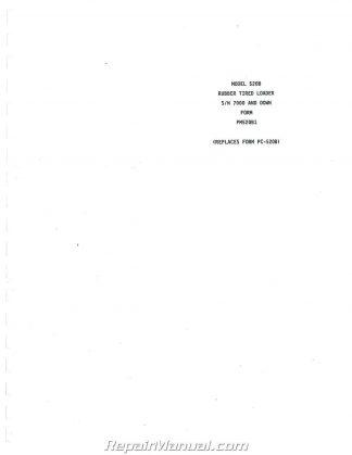 Caterpillar D2 Tractor Operators Manual
