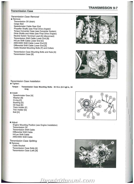 2000-2002 Kawasaki Mule 2510 Diesel KAF950 Mule Side by Side Service Manual