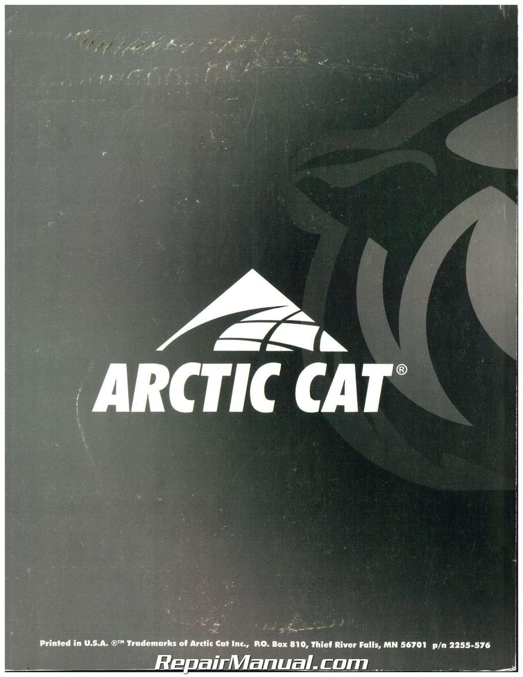 1997 Arctic Cat Bearcat 454 4 U00d74 Atv Service Manual