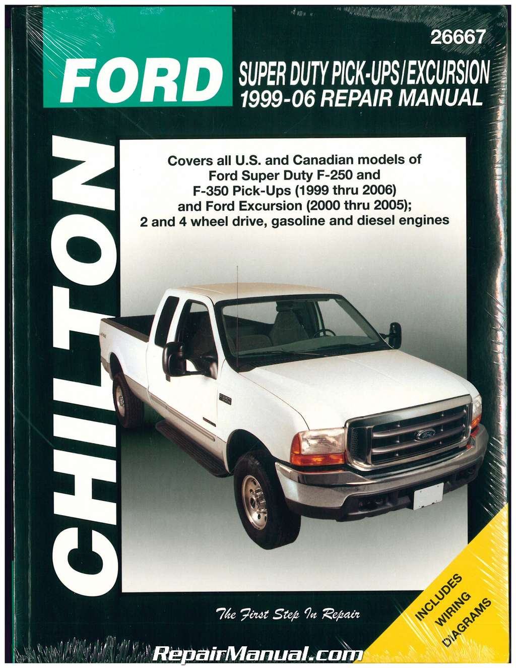 Chilton Ford Super Duty F-250 F-350 1999-2006 Ford Excursion 2000-2005 Repair  Manual