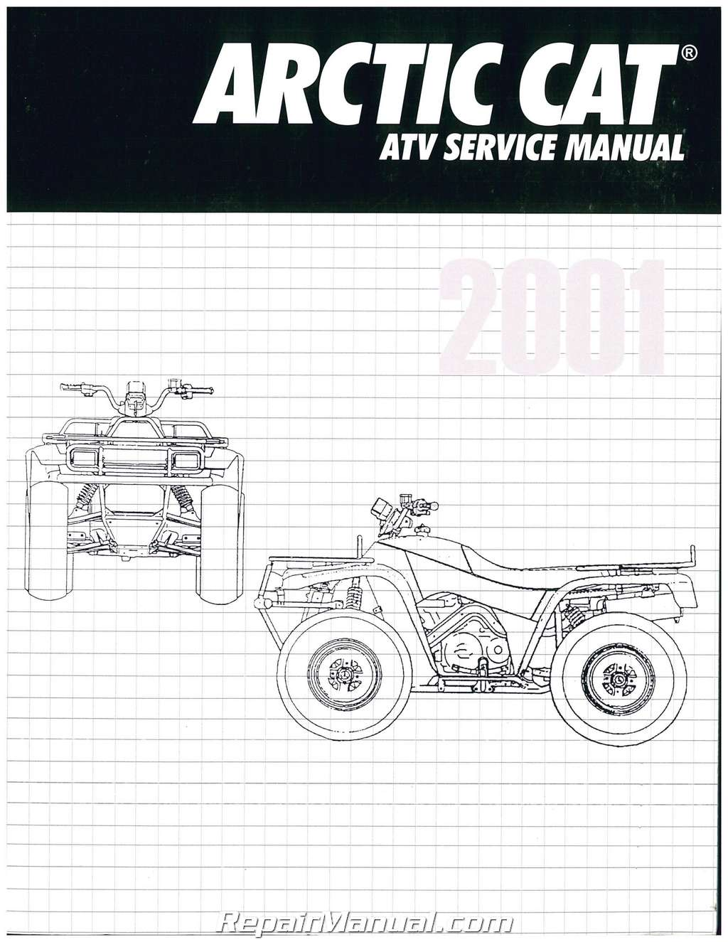 2001 arctic cat 250 300 400 500 atv service manual rh repairmanual com 2001 arctic cat 250 service manual 2001 arctic cat 500 4x4 service manual
