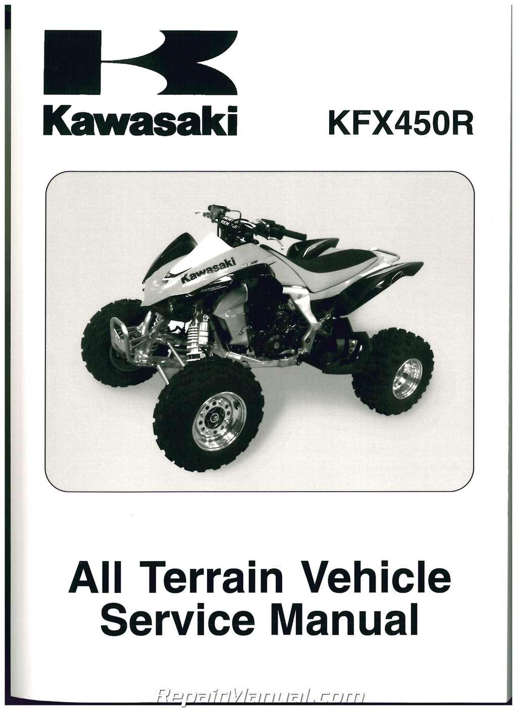 2008 2009 Kawasaki Ksf450b Kfx450r Atv Service Manual