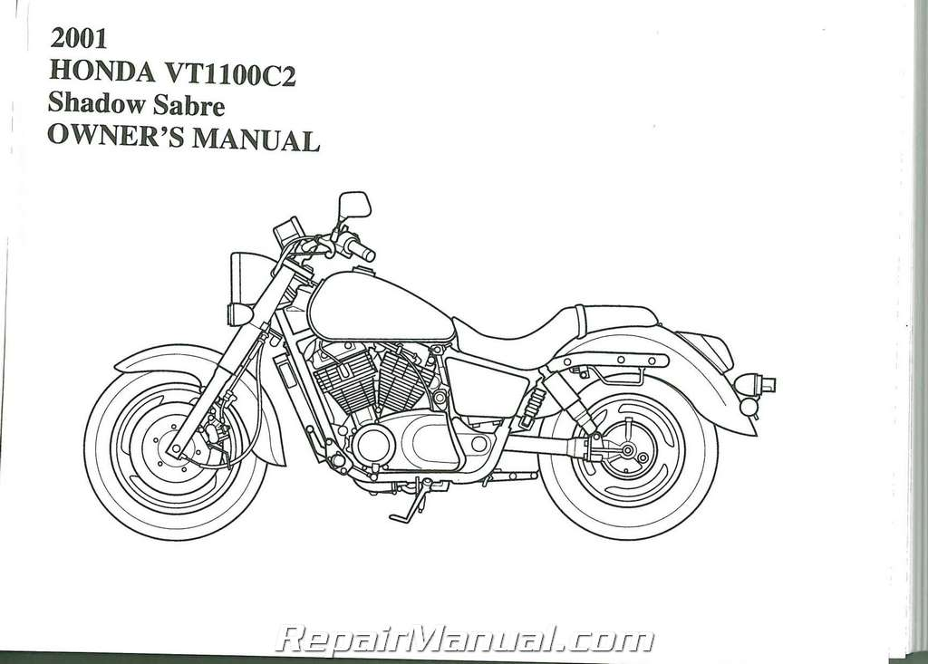 2001 Honda Vt1100c2 Shadow Sabre Motorcycle Owners Manual