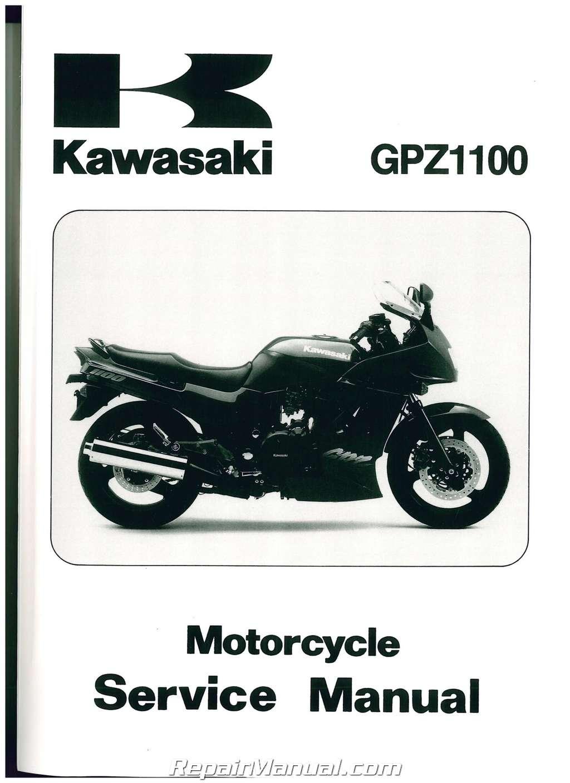 Kawasaki Gpz1100 Repair And Service Manual Gpz 750 Wiring Diagram 1995 1997 Zx1100e2 Motorcycle Rh Repairmanual Com Silver Gpz750