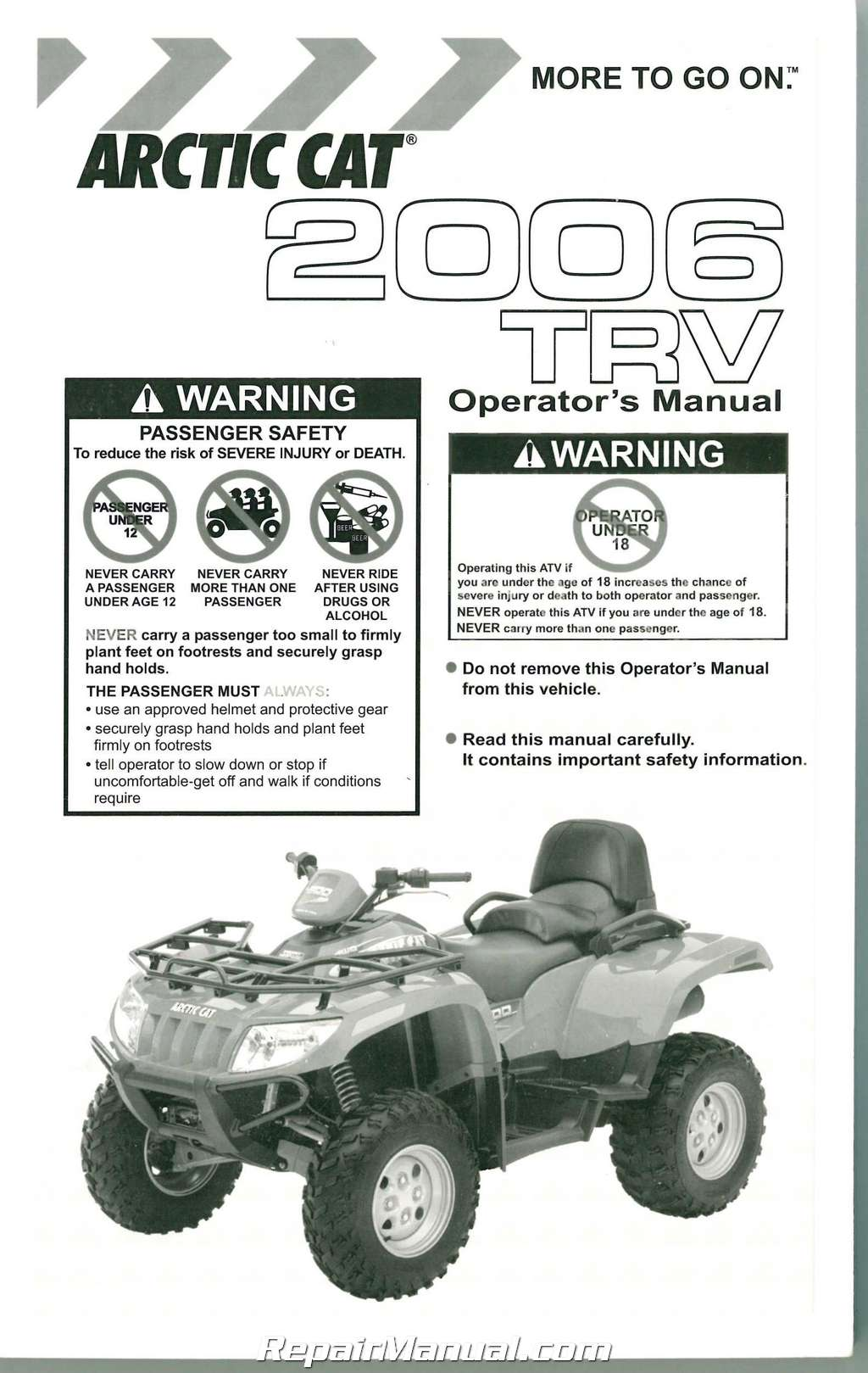 Free Arctic Cat Atv Owners Manual