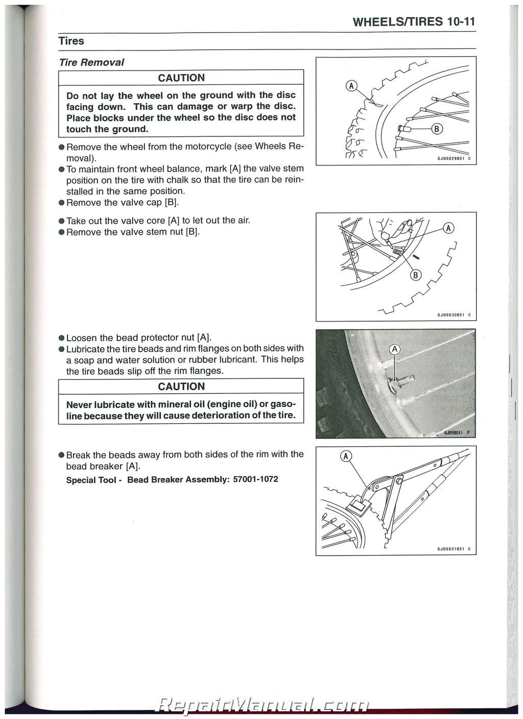 ... Array - 2008 2014 kawasaki klx450r motorcycle service manual rh  repairmanual ...