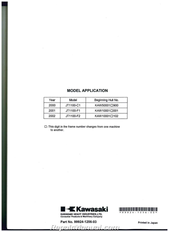 Kawasaki Stx Di Service Manual