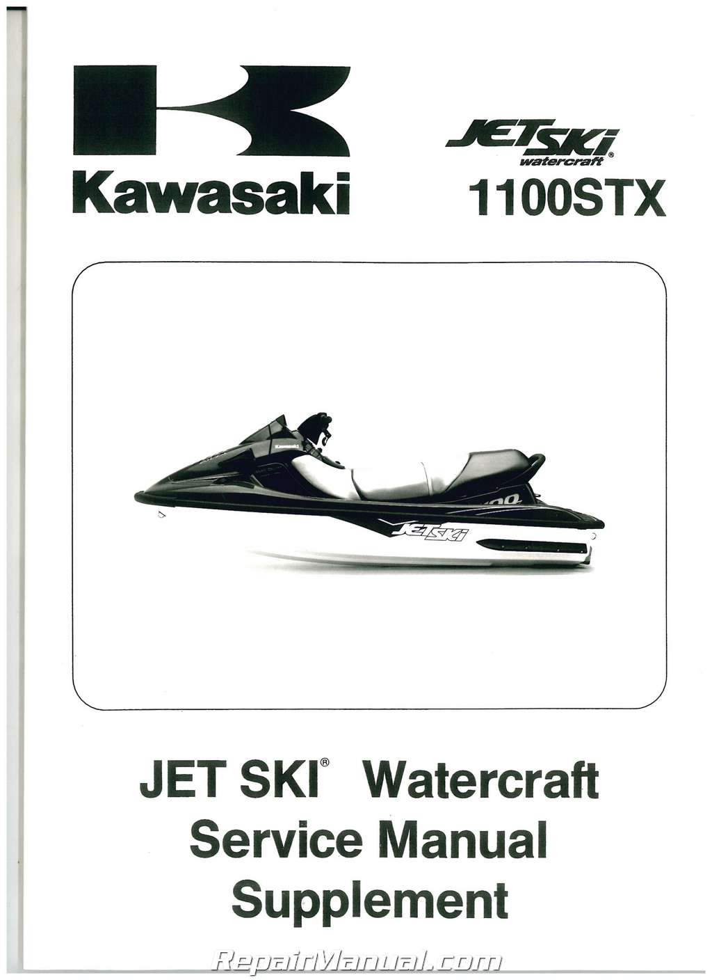 1998 – 1999 Kawasaki 1100 STX Jet Ski Factory Service Manual Supplement