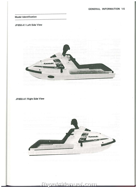 1989-1996 Kawasaki JetSki JS650-B 1987-1990 Kawaski JF650 X-2 JetSki Factory  Service Manual