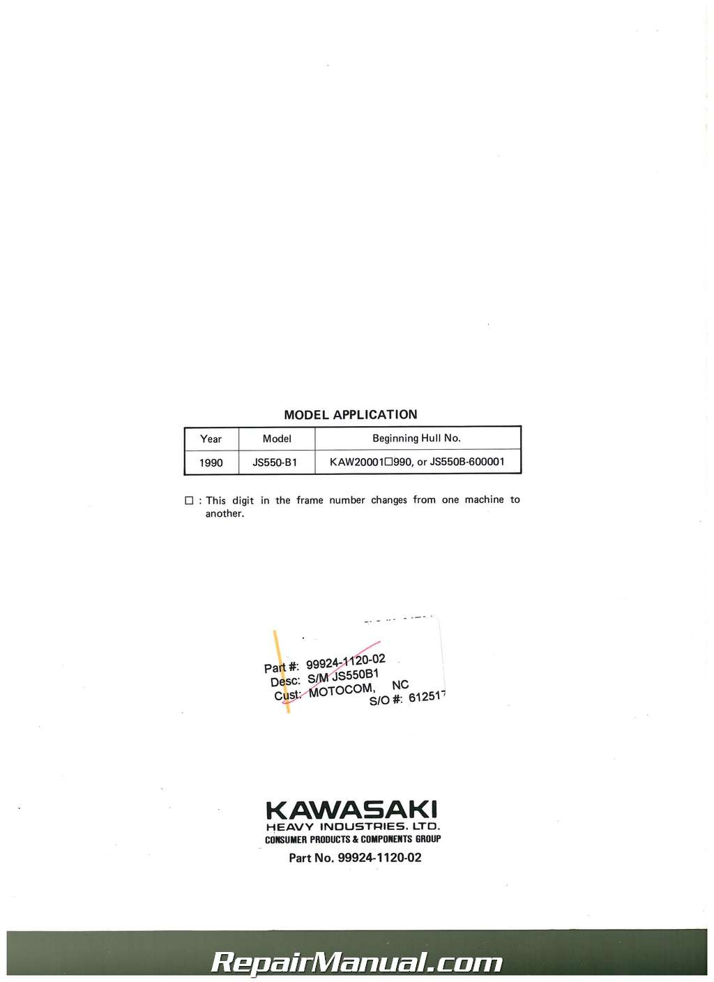 ... maintenance specifications for 1990-1993 Kawasaki JET SKI JS550-B  watercrafts. doc01149220160303143553_021.jpg  doc01149220160303143553_022.jpg ...