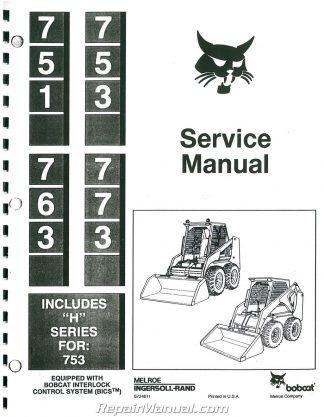 Bobcat 730 731 732 Loader Service Manual
