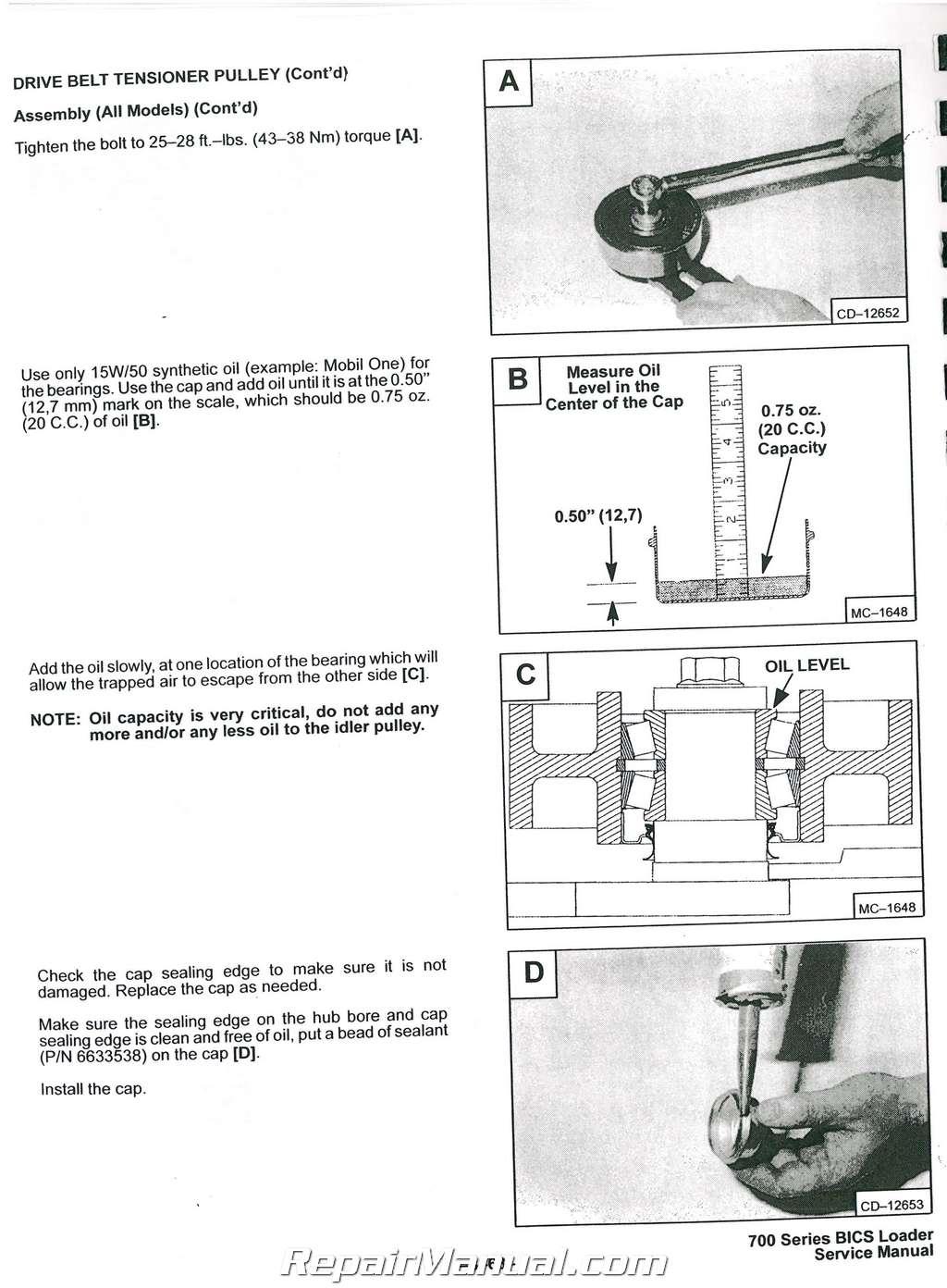DOWNLOAD BOBCAT (BOB CAT) Service Manuals Parts Manuals ...