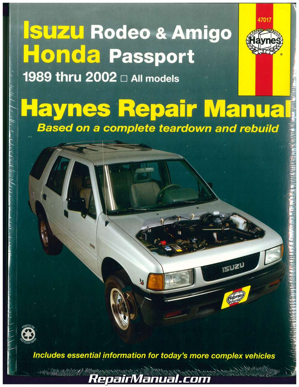 Isuzu Rodeo Amigo Honda Passport 1989-2002 Haynes Automotive Repair Manual