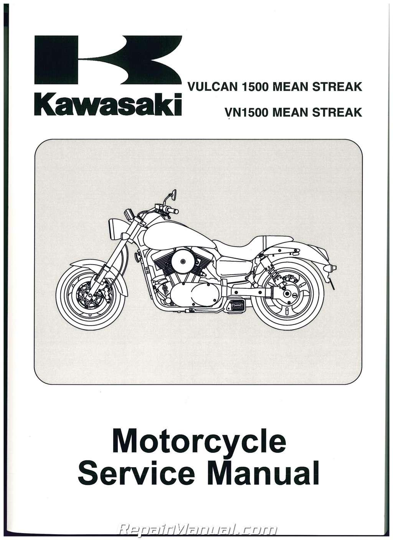 2002 2003 kawasaki vulcan vn1500p mean streak motorcycle service manual rh repairmanual com 2002 kawasaki mean streak 1500 service manual 2002 Kawasaki Mean Streak 1500