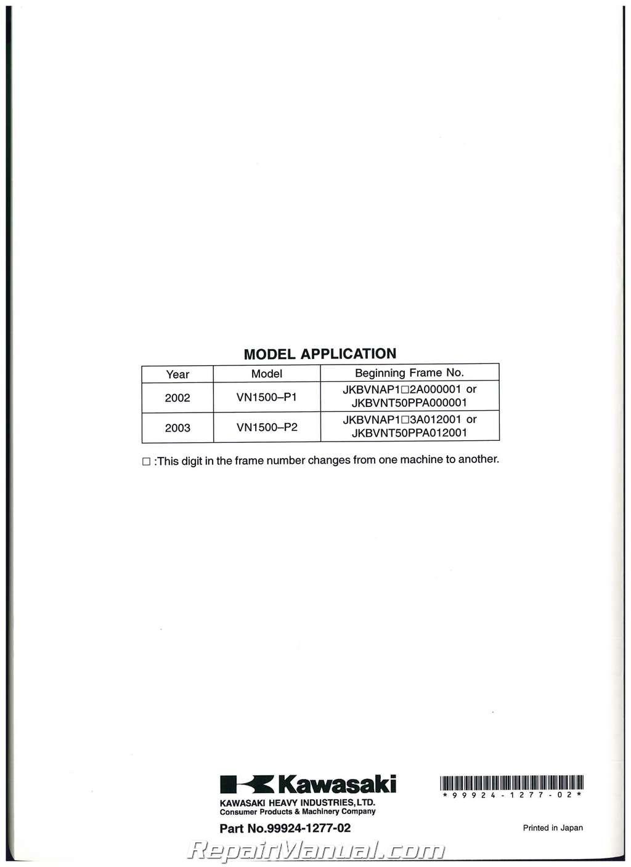 Kawasaki Mean Streak  Service Manual