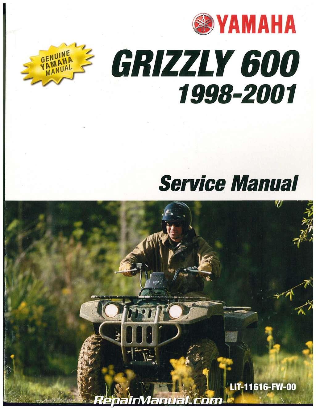 1998 2001 yamaha yfm600 grizzly atv service manual lit 11616 fw 00 rh ebay com YFM Radio Kitai Kaya FM
