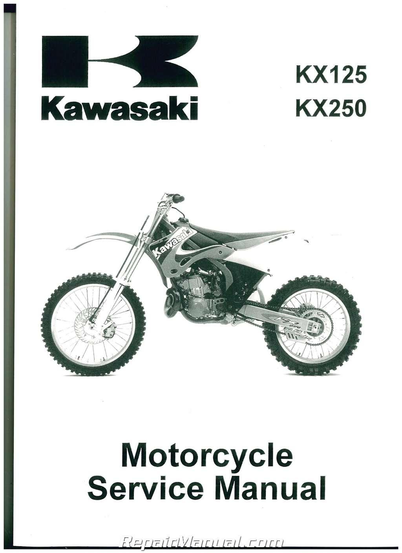 1999 2002 kawasaki kx125 kx250 motorcycle service manual rh repairmanual com 2004 kx 125 service manual 2004 kx 125 service manual